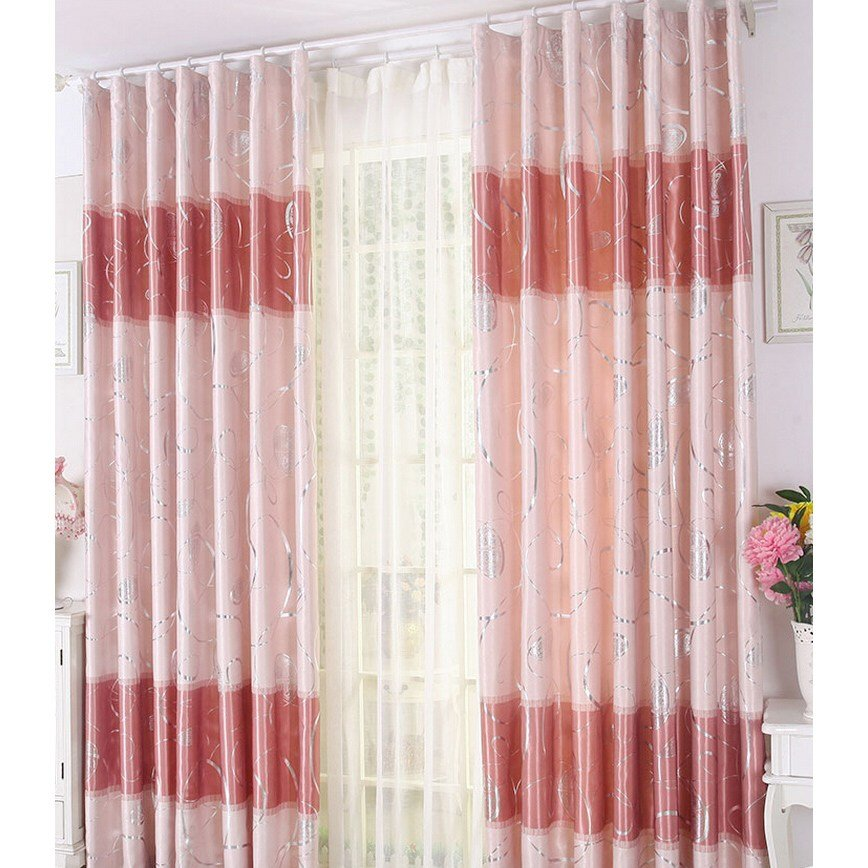 Best Romantic Pink Curtains Durable Polyester Insulated Bedroom With Pictures