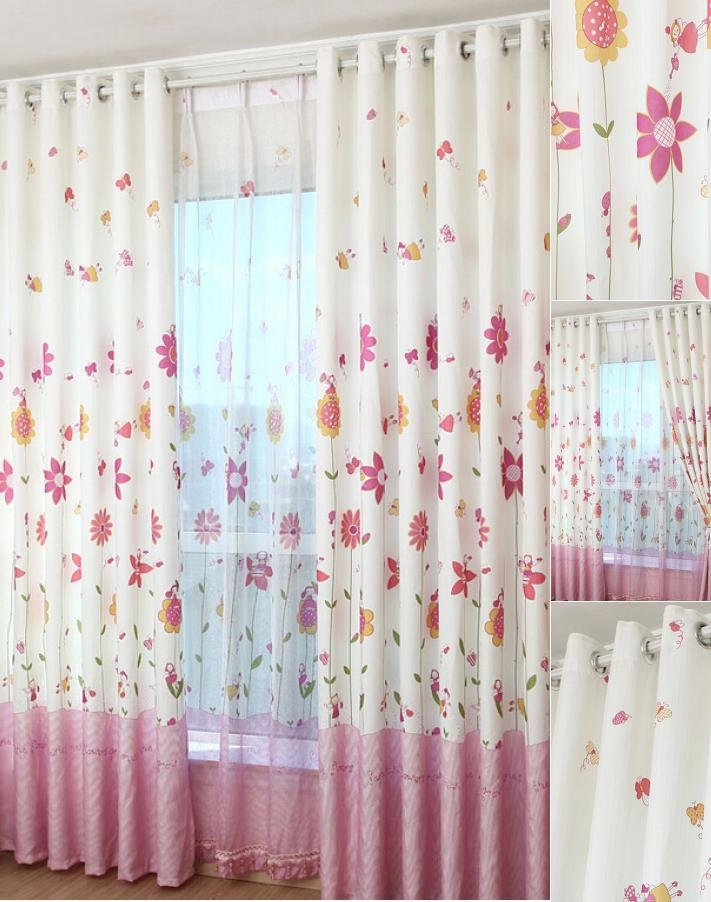 Best Korean Pink Floral Girls Bedroom Jacquard Heavy Sweet Floral Curtains With Pictures