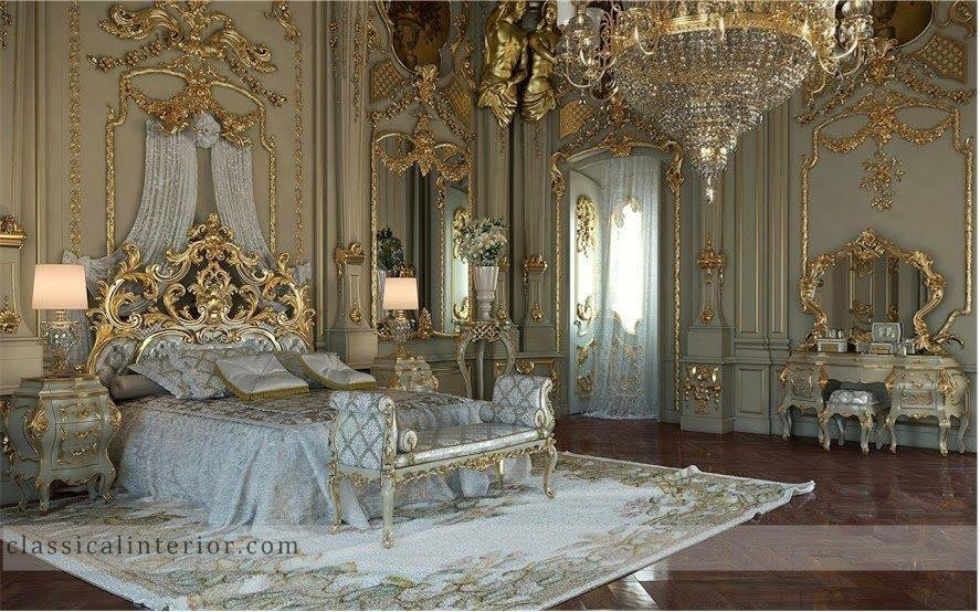 Best » Royal Gold Bedroom Set Carved With King Size Bedtop And With Pictures