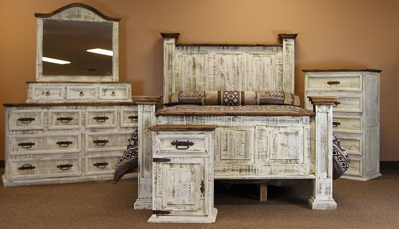 Best Dallas Designer Furniture White Washed Rustic Bedroom Set With Pictures