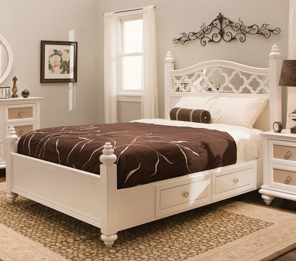 Best Dreamfurniture Com Paris Youth Panel Bedroom Set Pearl With Pictures