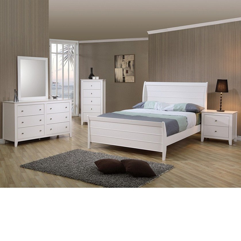 Best Dreamfurniture Com Sandy Beach Youth Sleigh Bedroom Set In White Finish With Pictures
