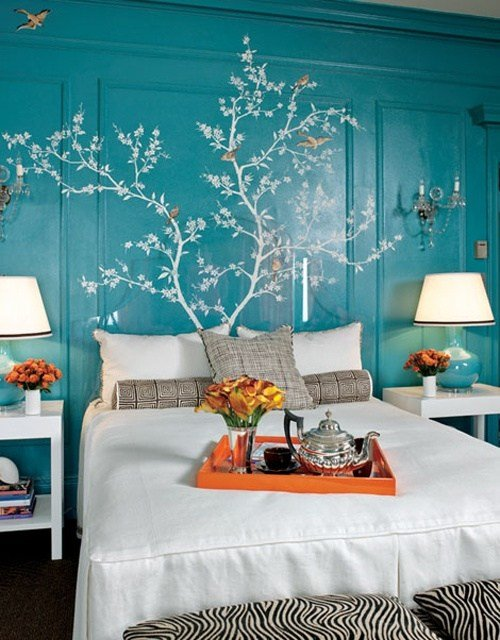 Best Blue And Turquoise Accents In Bedroom Designs – 39 Stylish With Pictures