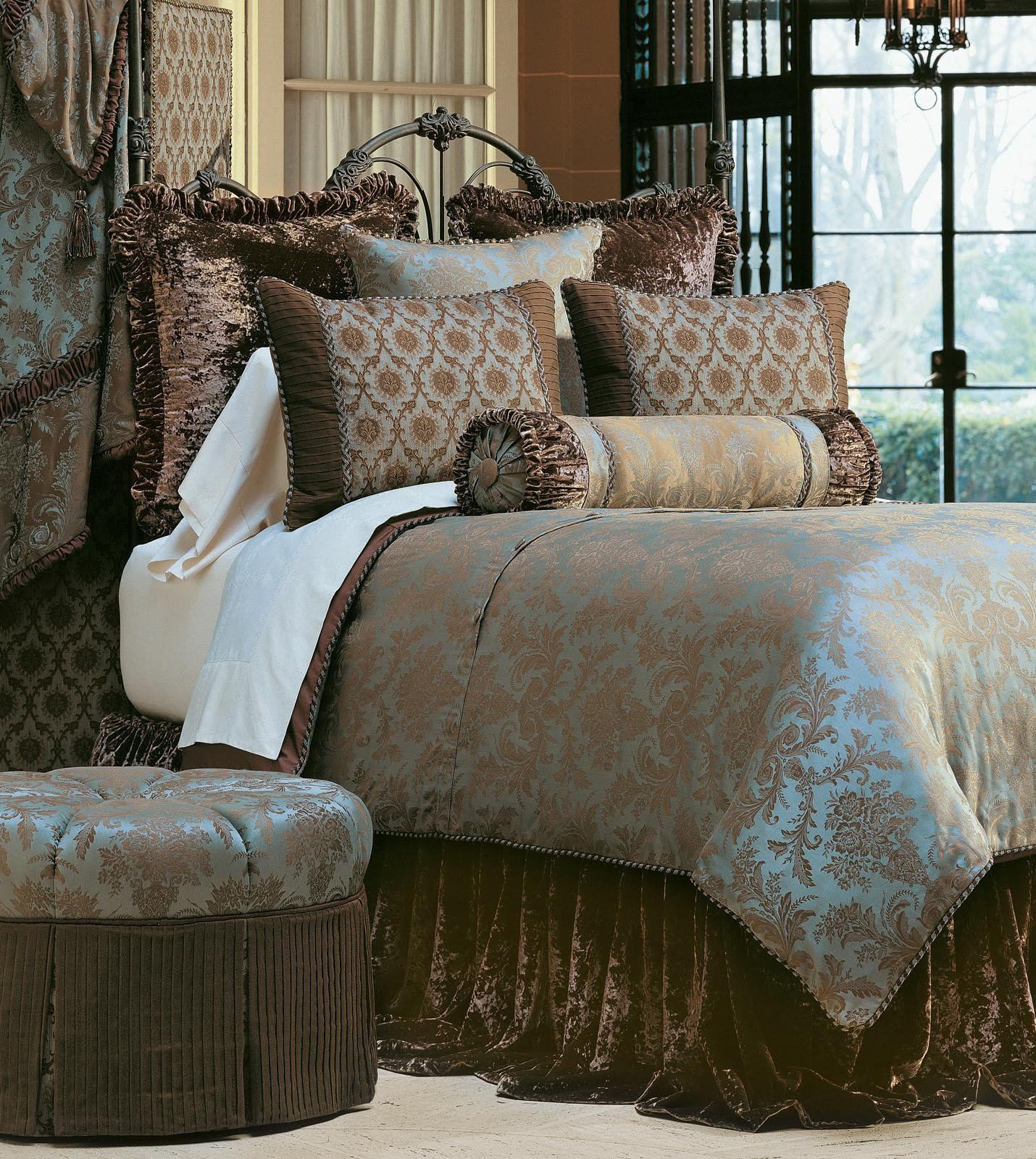 Best Luxury Bedding By Eastern Accents Foscari Collection With Pictures