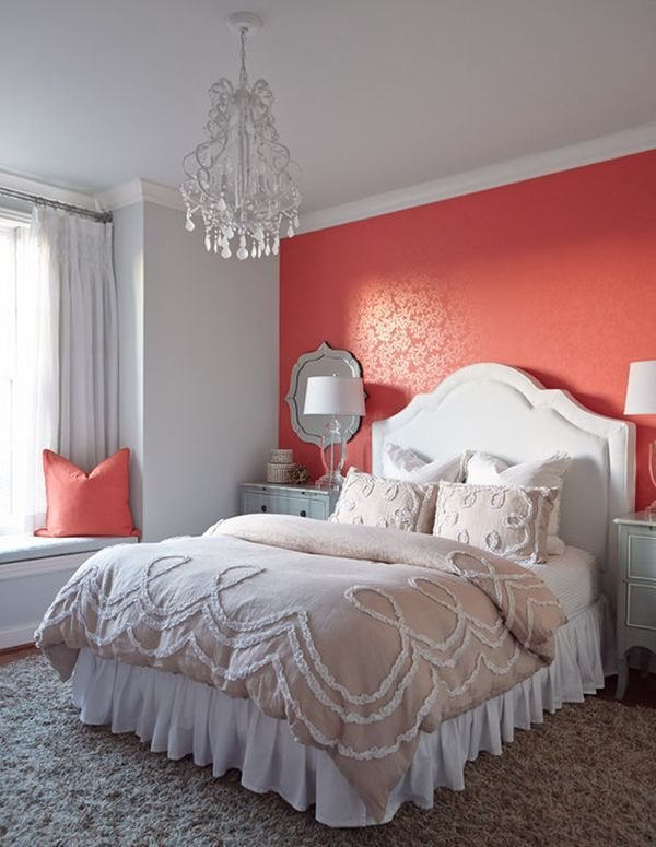 Best Decorating Bedroom Walls Coral And Grey Bedroom Wall With Pictures