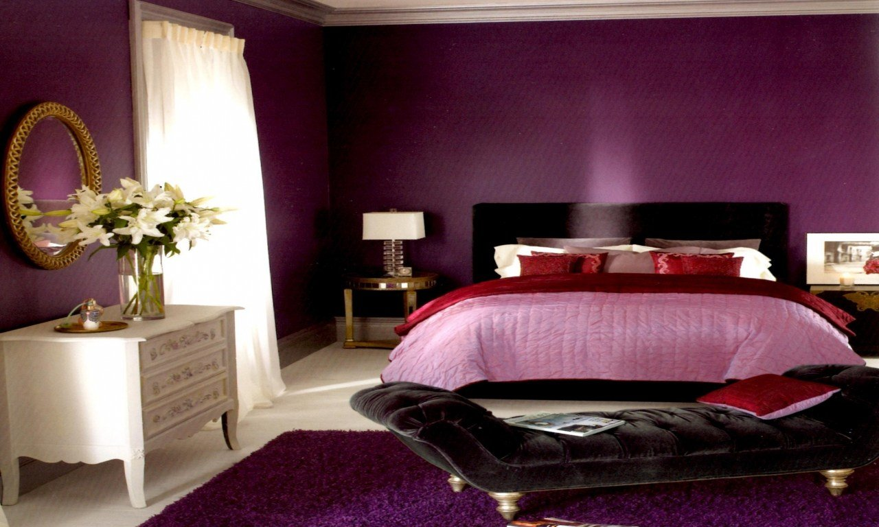Best Color Combinations For Furniture Black And Purple Bedroom With Pictures