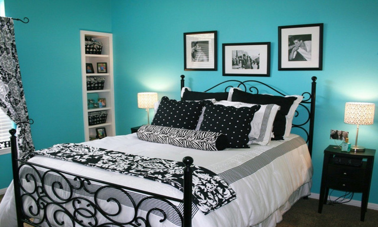 Best Blue Bedroom Designs Ideas Black White And Teal Bedroom With Pictures