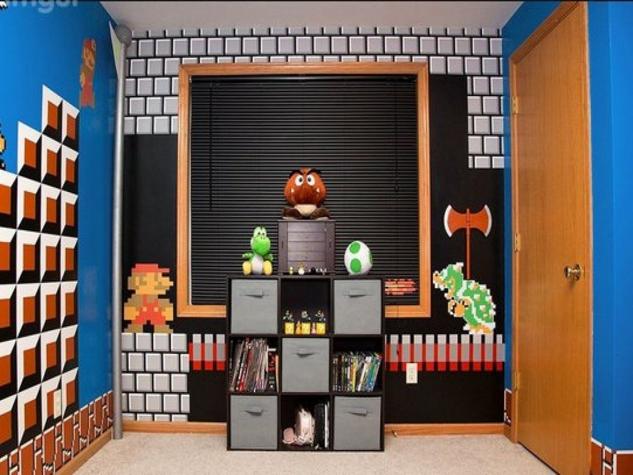 Best Wall Shelves For Boys Room Super Mario Bros Bedroom Ideas With Pictures