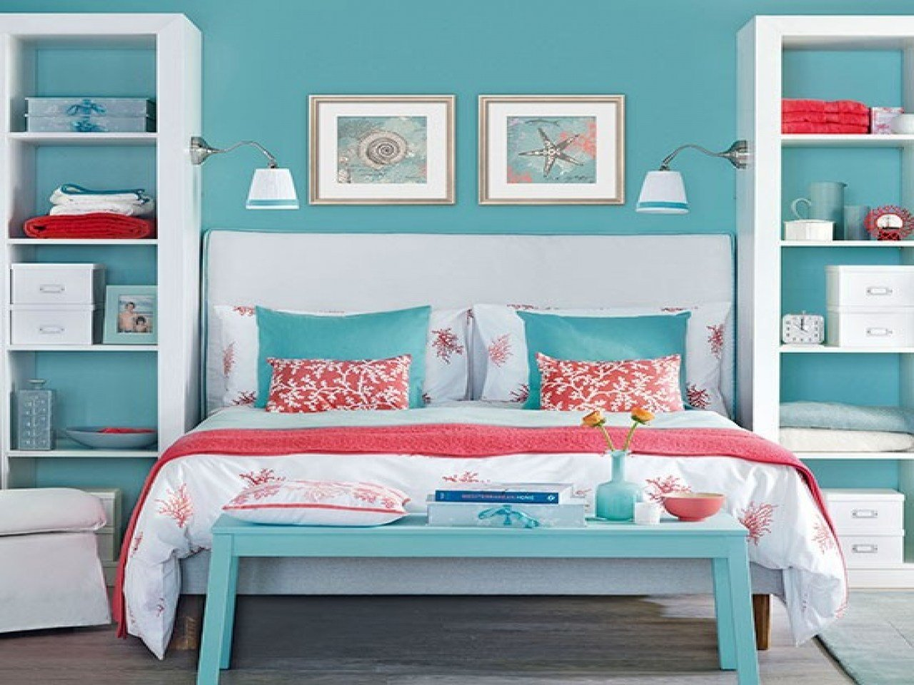 Best Soothing Bedroom Ideas Navy And Coral Bedroom Blue And With Pictures
