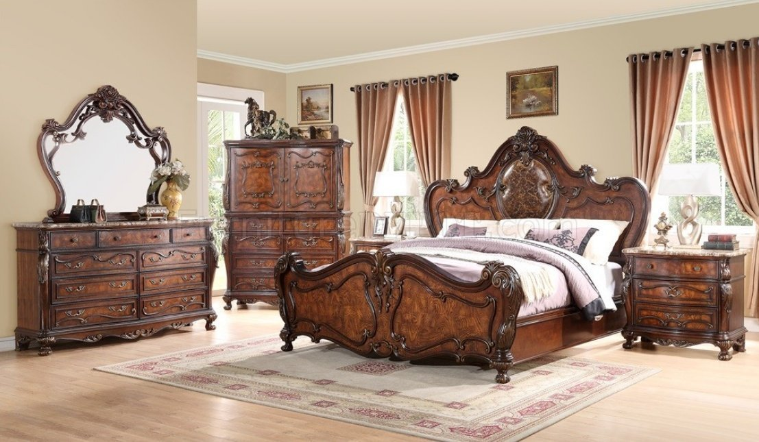 Best Romance Bedroom Traditional 5Pc Set W Options With Pictures