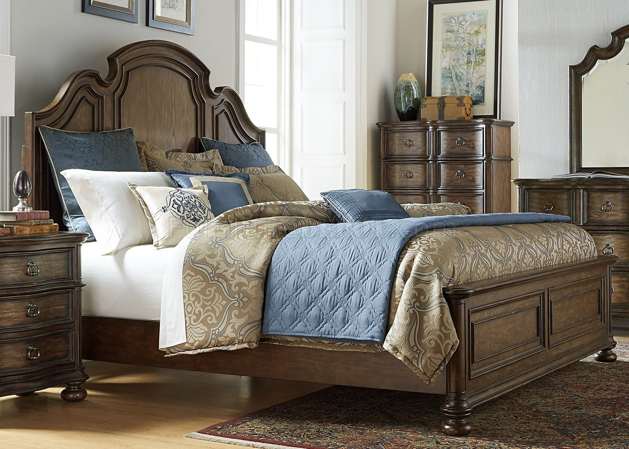 Best Tuscan Valley Bedroom 5Pc Set 215 Br In Weathered Oak By With Pictures