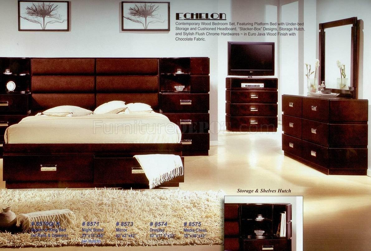 Best Java Finish Modern Bedroom W Optional Casegoods With Pictures
