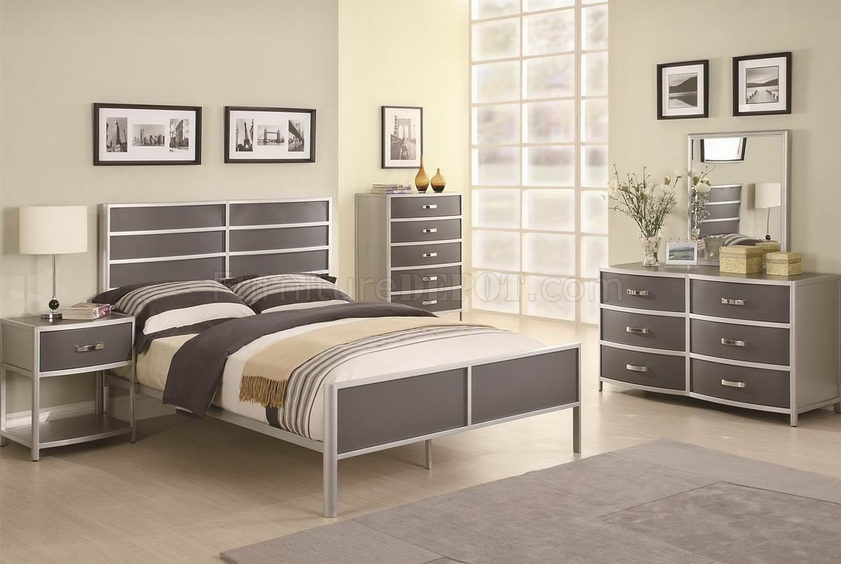 Best Two Tone Finish Modern 4Pc Kid S Bedroom Set With Pictures
