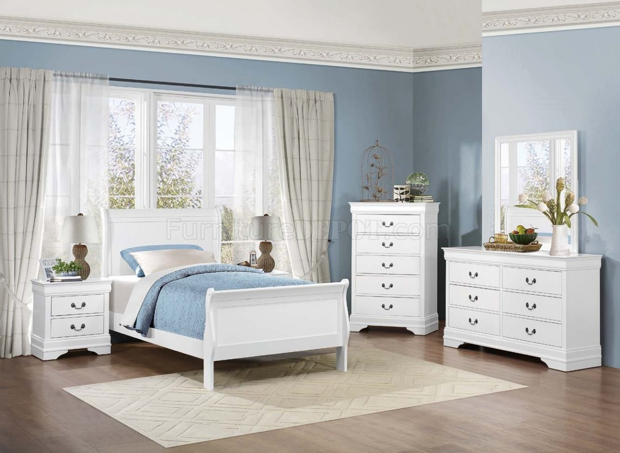 Best Mayville 2147W 4Pc Youth Bedroom Set In White By Homelegance With Pictures