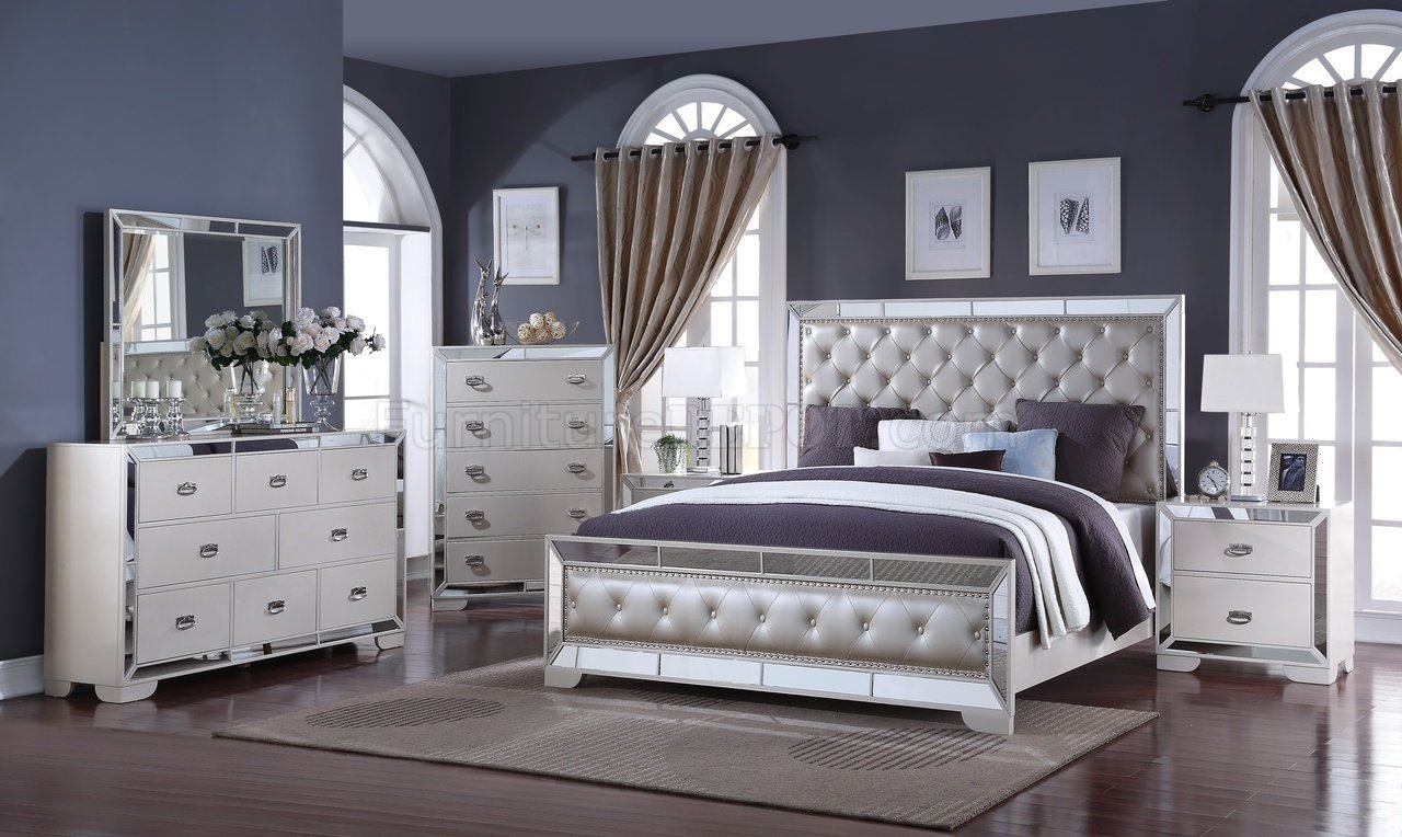 Best Gloria 5Pc Bedroom Set In Ivory W Options With Pictures