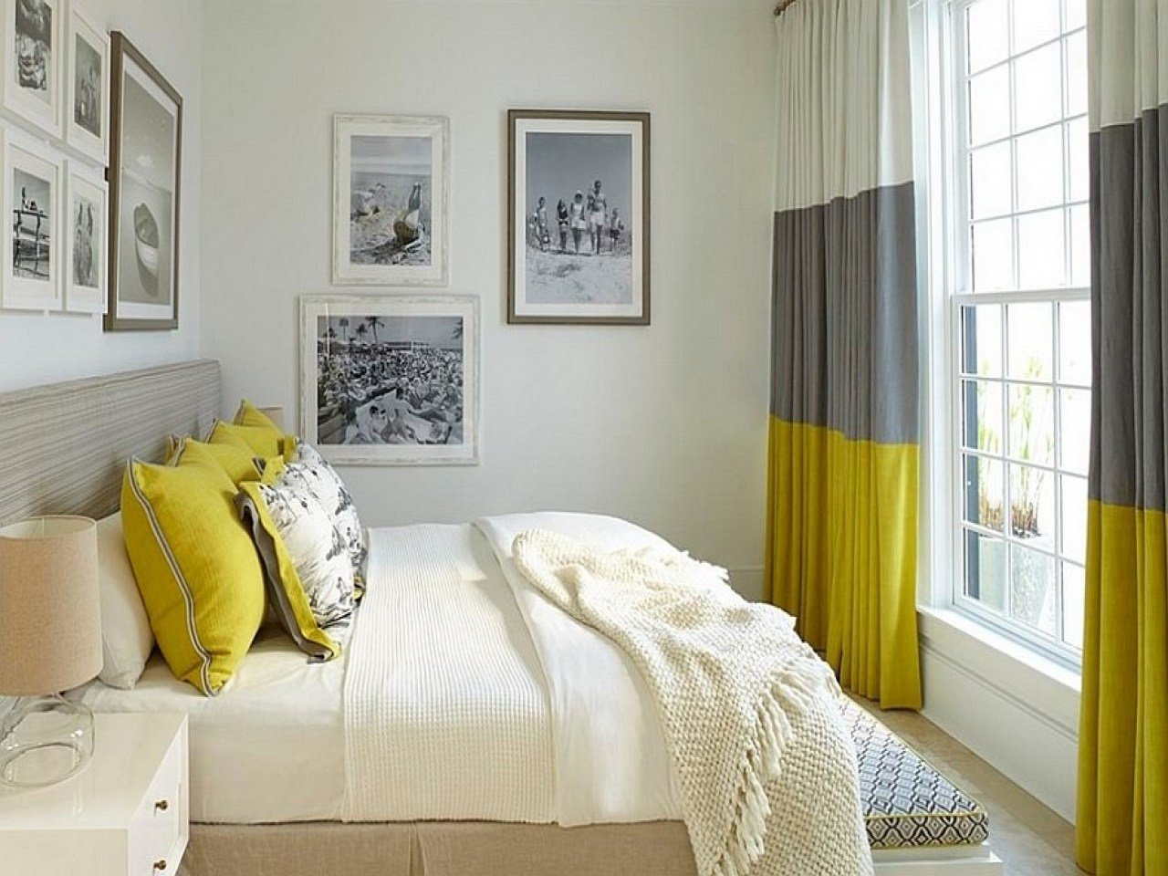 Best Modern Bedroom Curtain Ideas Yellow And Gray Bedroom With Pictures