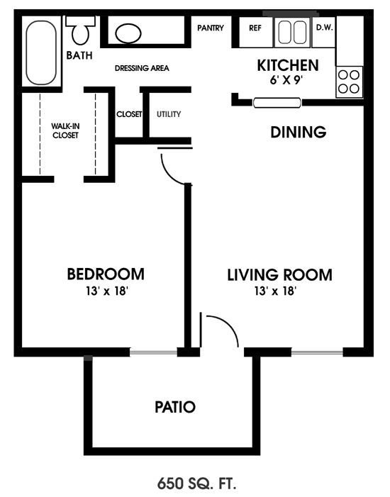 Best One Bedroom Floor Plans Clearview Apartments Mobile With Pictures