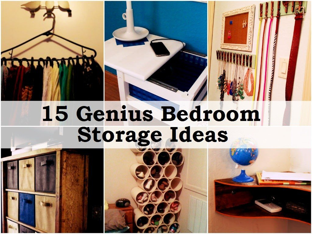 Best 15 Genius Bedroom Storage Ideas With Pictures
