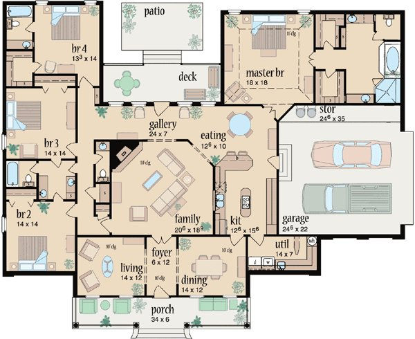 Best Country Style House Plans 3042 Square Foot Home 1 With Pictures