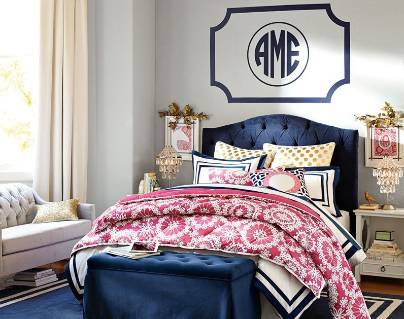 Best Love The Navy And Pink Together Teenage Girl Bedroom With Pictures
