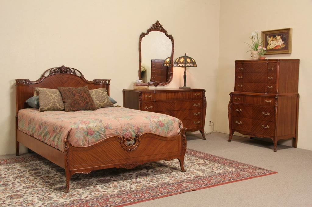 Best French Style 1940 S Vintage Joerns 4 Pc Full Size Bedroom Set With Pictures