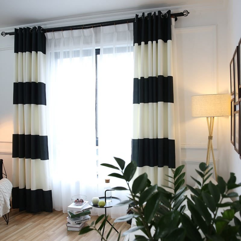 Best Mordern Striped Curtains Feature Marcus Reid With Pictures
