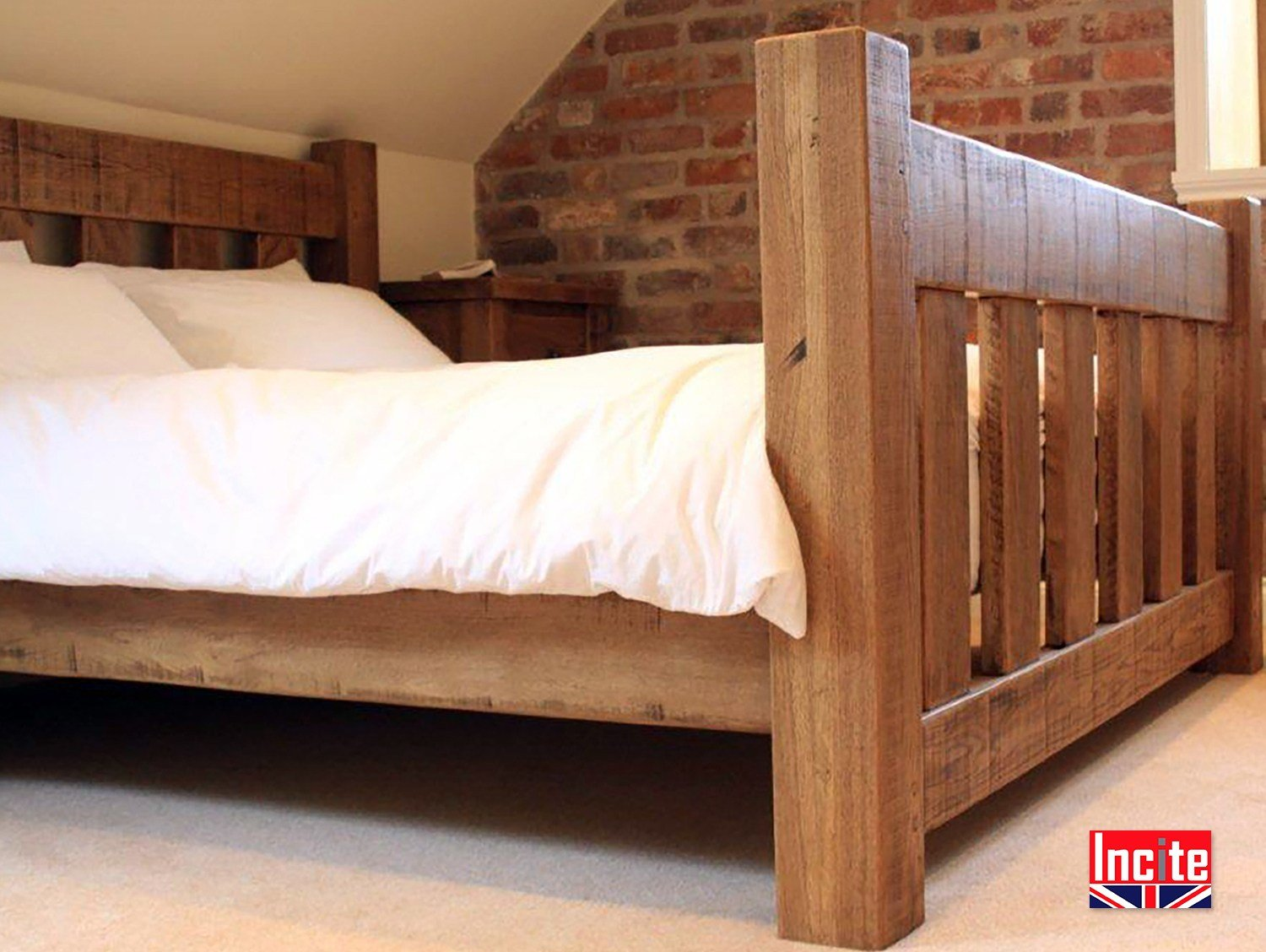 Best Custom Handmade Rustic Solid Oak Slat Bed By Incite Derby With Pictures
