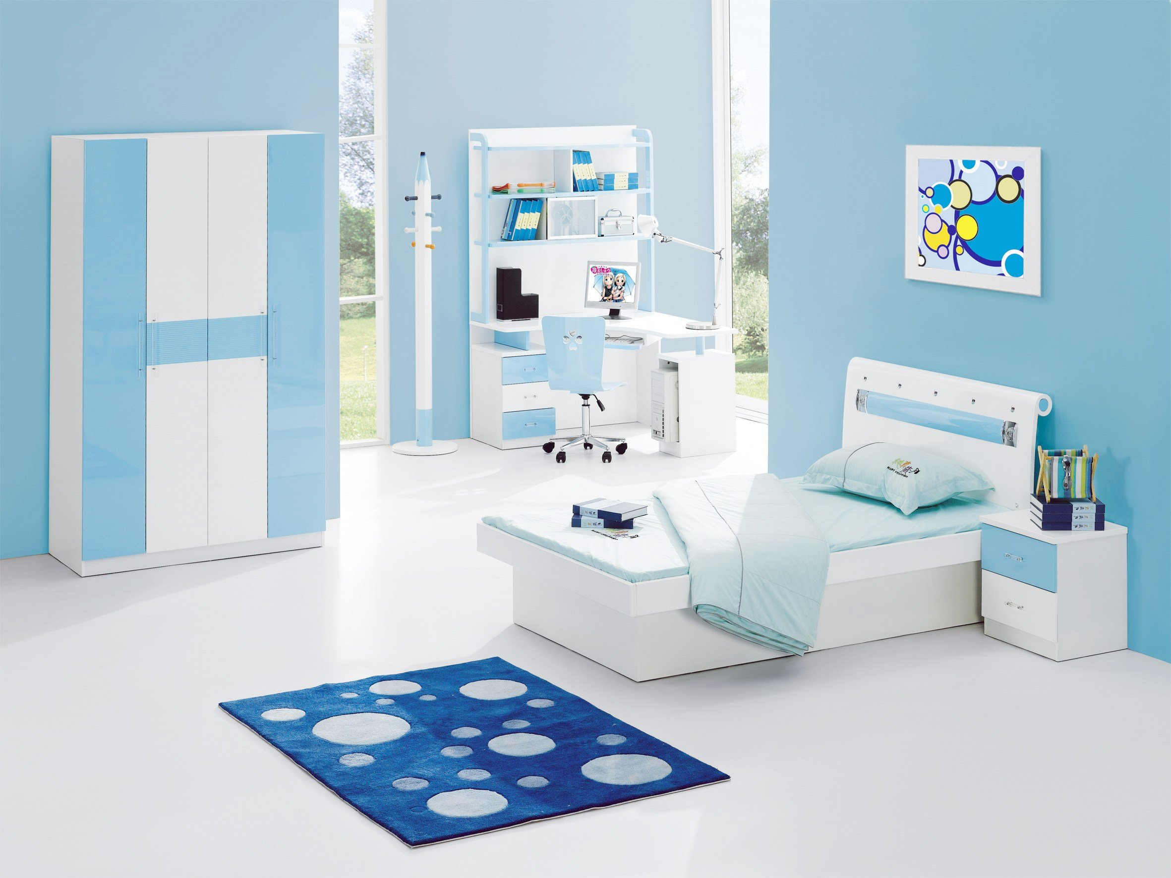 Best Interior Exterior Plan Cool Blue Bedroom Design With Pictures