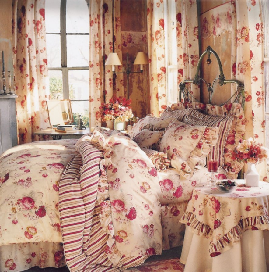 Best Floral Bedroom Curtains Waverly Vintage Rose Bedding With Pictures