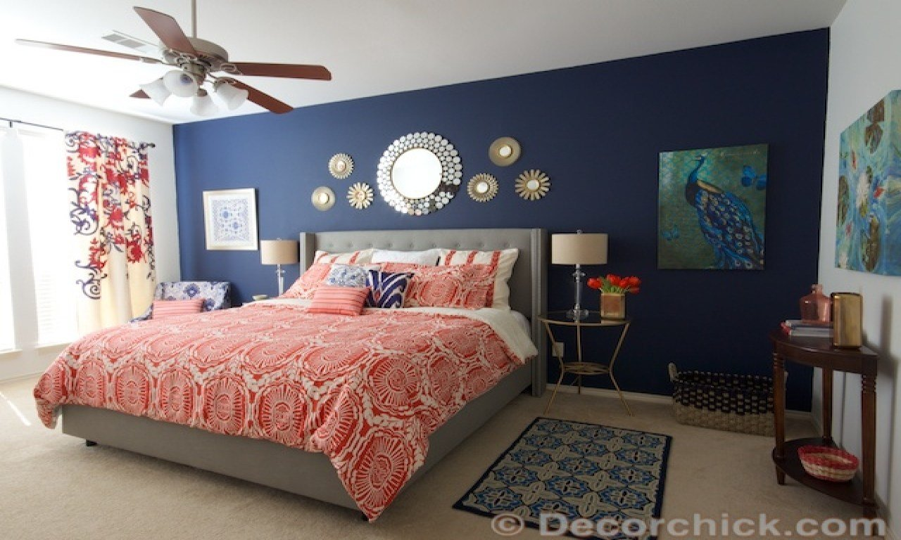 Best Navy Blue And White Bedroom Navy Blue And Coral Bedroom Ideas Coral And Navy Blue Bedroom With Pictures
