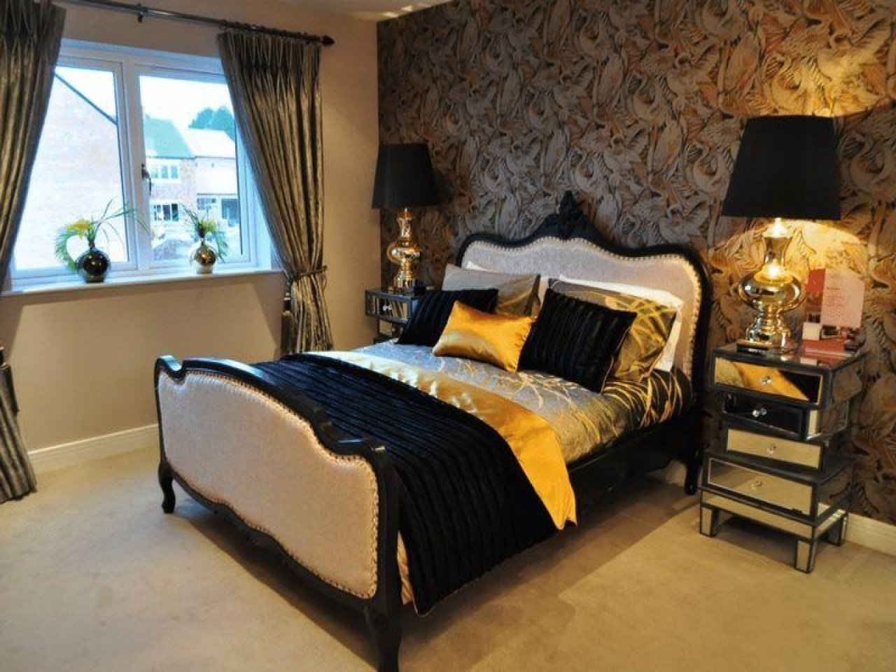 Best Orange And Brown Bedroom Pink Black And Gold Bedroom With Pictures
