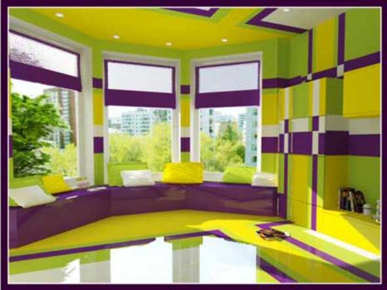 Best Purple Walls Bedroom Purple And Lime Green Bedding Lime With Pictures