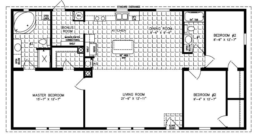 Best 1200 To 1399 Sq Ft Manufactured Home Floor Plans With Pictures