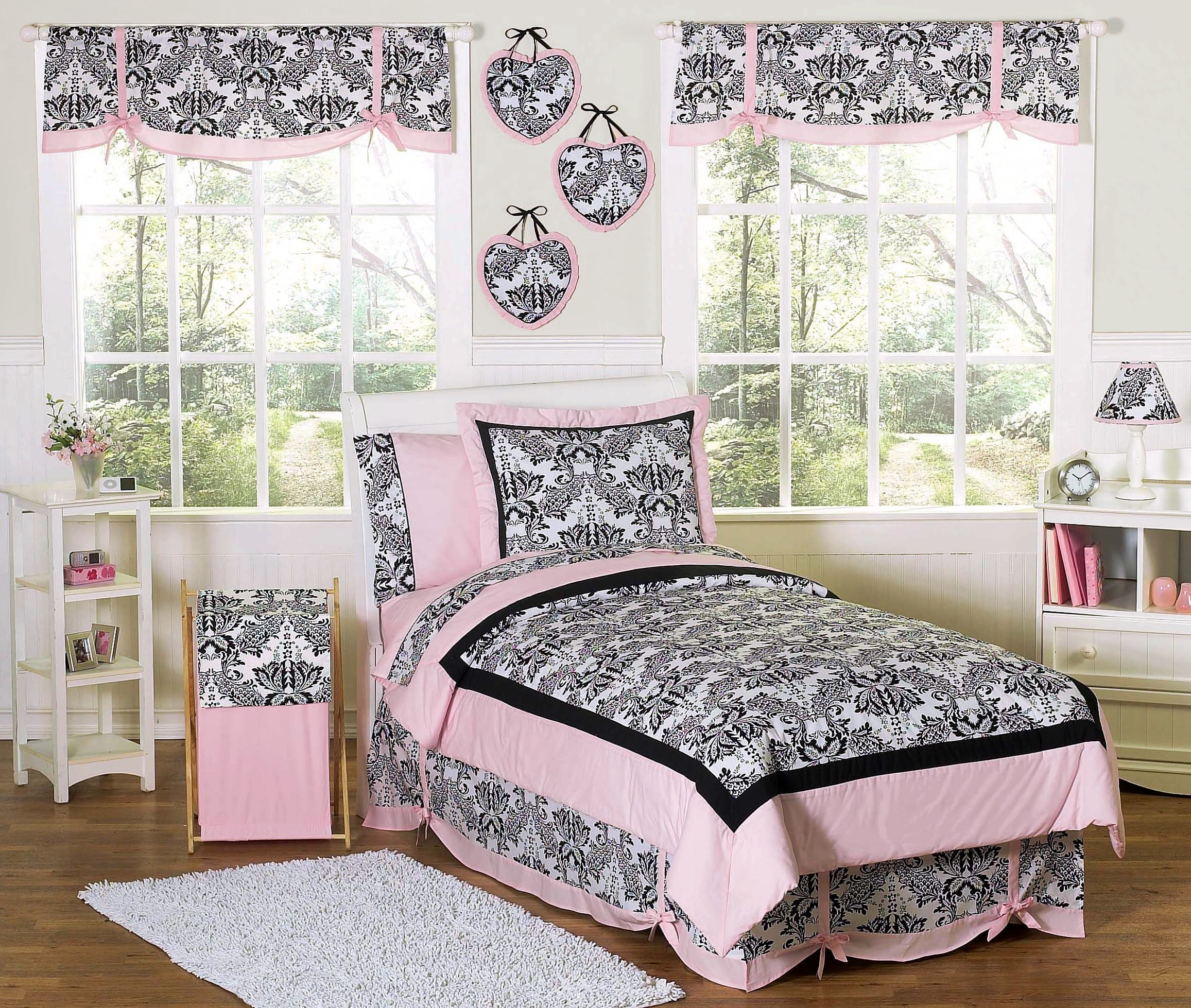 Best Pink Black French Style Bedding Twin Full Queen With Pictures