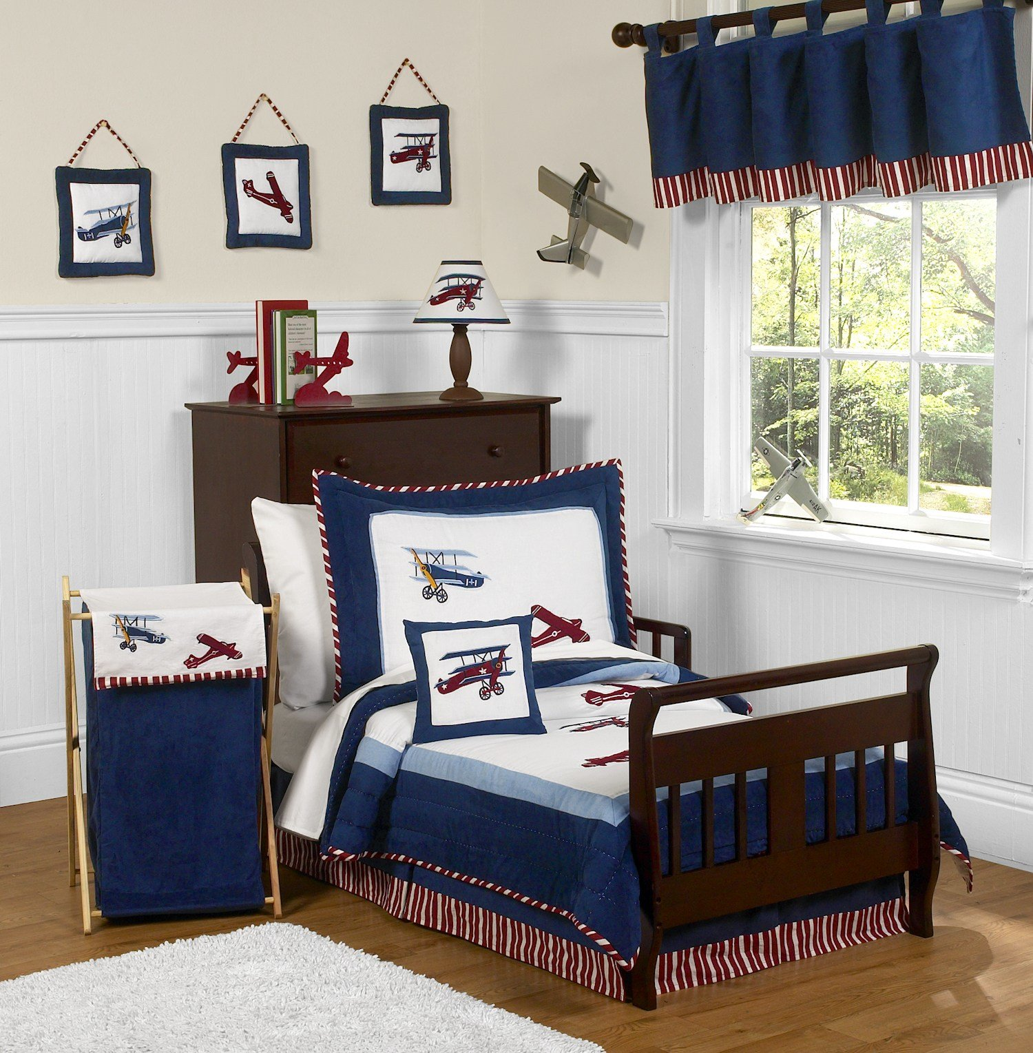 Best Vintage Airplanes Toddler Boy Comforter Bedding 5Pc Bed In With Pictures