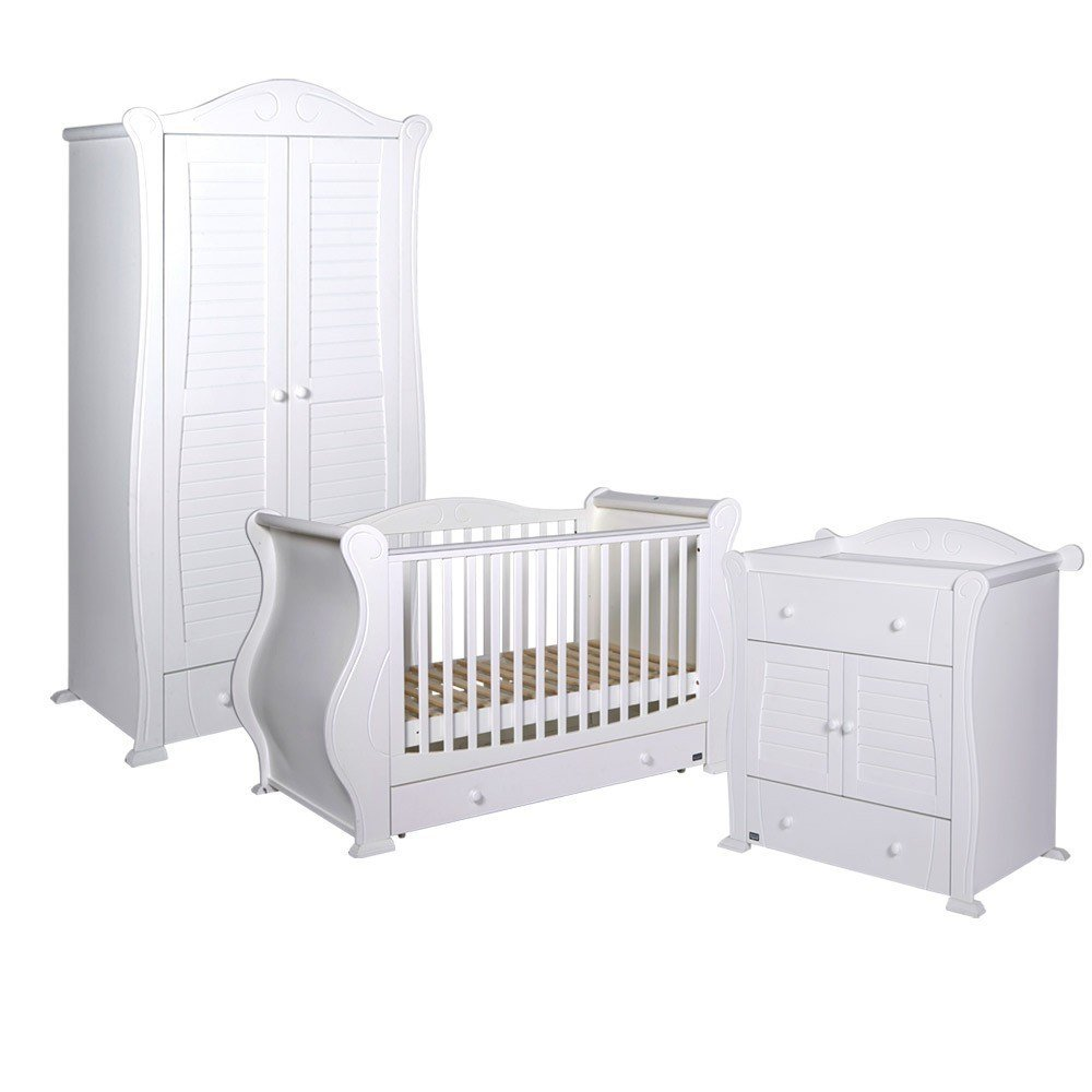 Best Tutti Bambini Marie 3 Piece Nursery Furniture Set White With Pictures
