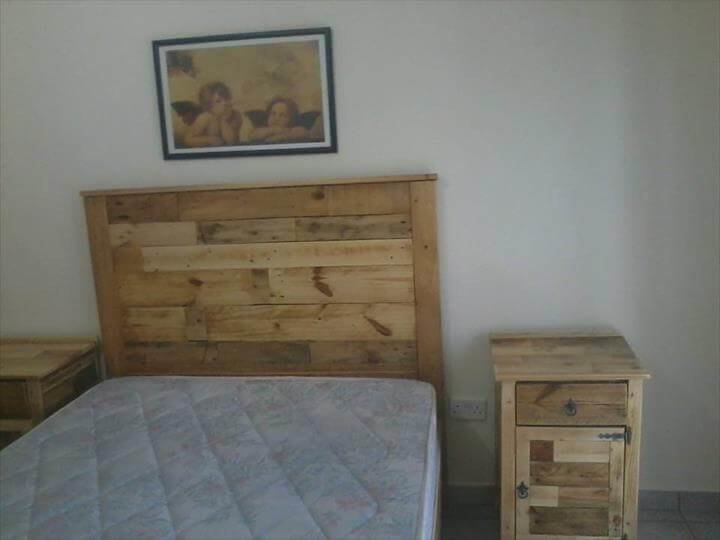 Best Diy Pallet Bed With Headboard And Lights With Pictures