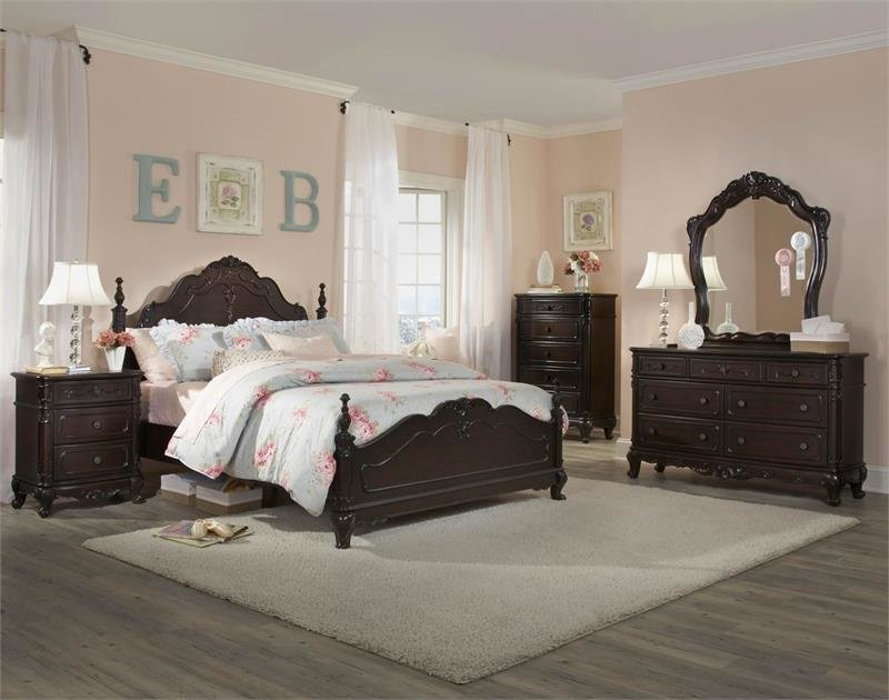 Best Cinderella Collection Dark Cherry Youth Bedroom With Pictures