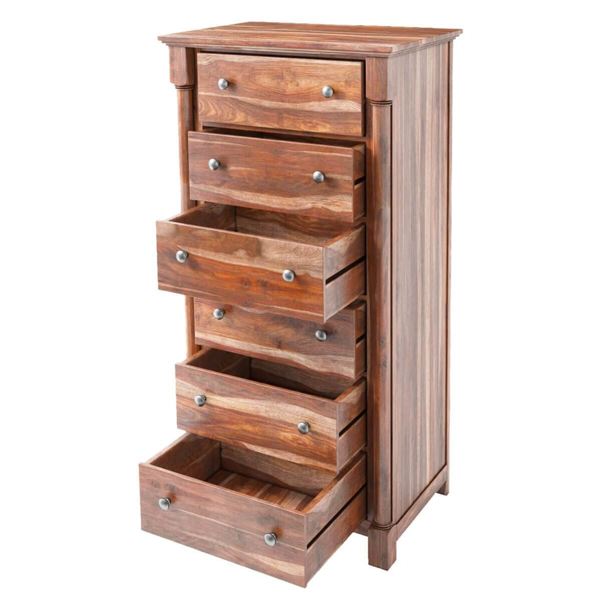 Best Pioneer Transitional Solid Wood 6 Drawer Bedroom Tall Dresser With Pictures
