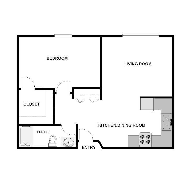 Best 1 Bedroom 1 Bath Apartment Wyndmere Estates With Pictures