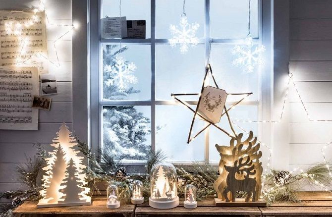 How to decorate the room to the new year without a Christmas tree