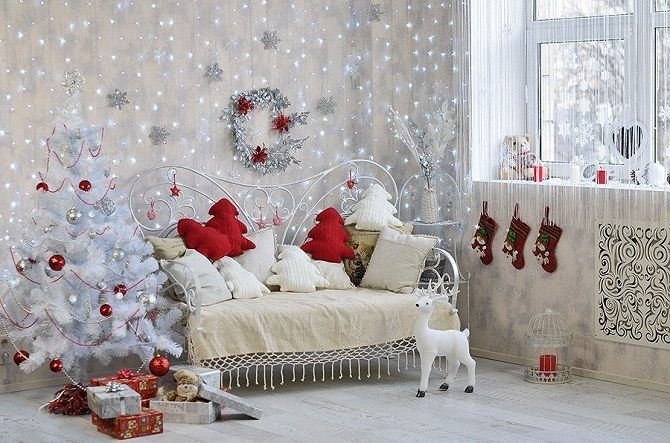 How to decorate the children's room for the new year