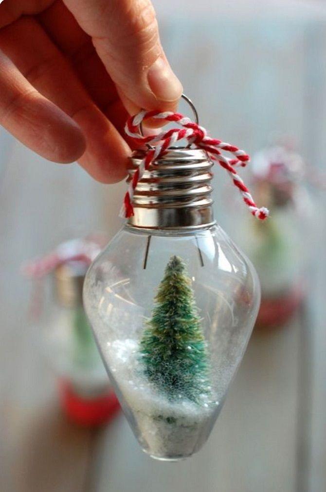 Рождестволық ойыншықтар өзіңіз өзіңіз жасайсыз: Жаңа жылға арналған 10 қарапайым нұсқа - 2021 8