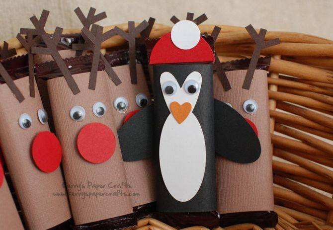 Penguins Christmas paper decorations