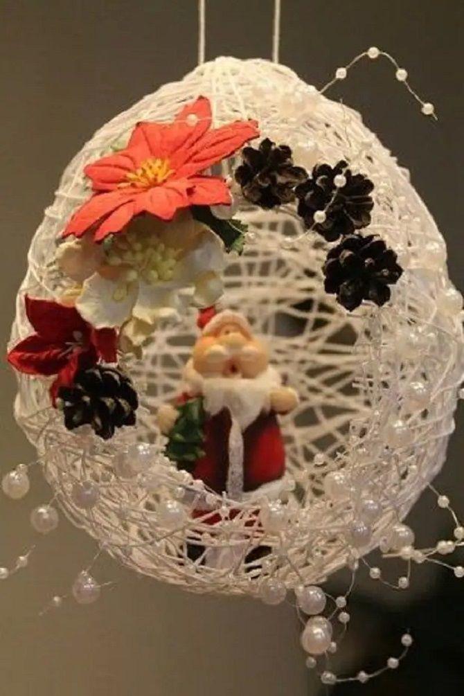 Рождестволық ойыншықтар өзіңіз жасайды: Жаңа жылға арналған 10 қарапайым нұсқа 9