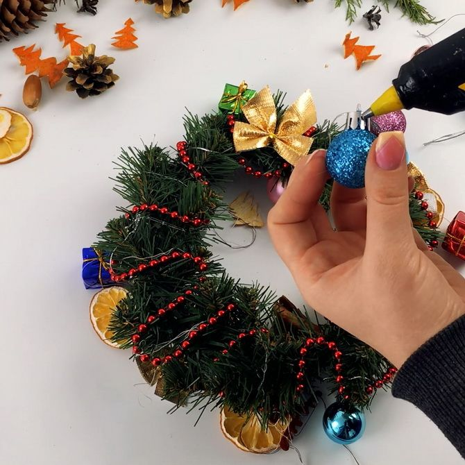 рождественский венок своими руками пошагово