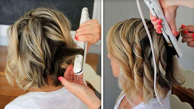 Curls deliciosos: 9 Métodos de ondulação em casa 14