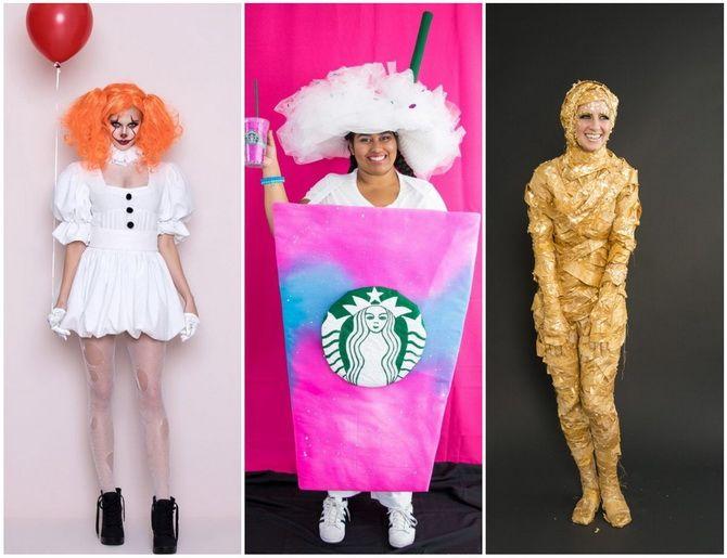 Halloween kostume med dine egne hænder: enkle og budgetmæssige muligheder for hele familien 28