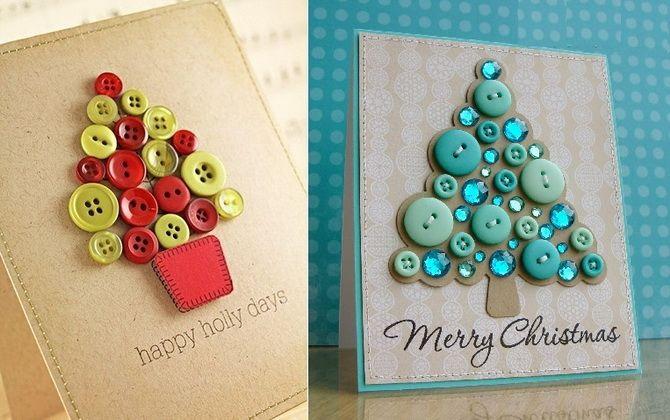 Создаем новогодние открытки своими руками: простые мастер-классы 16