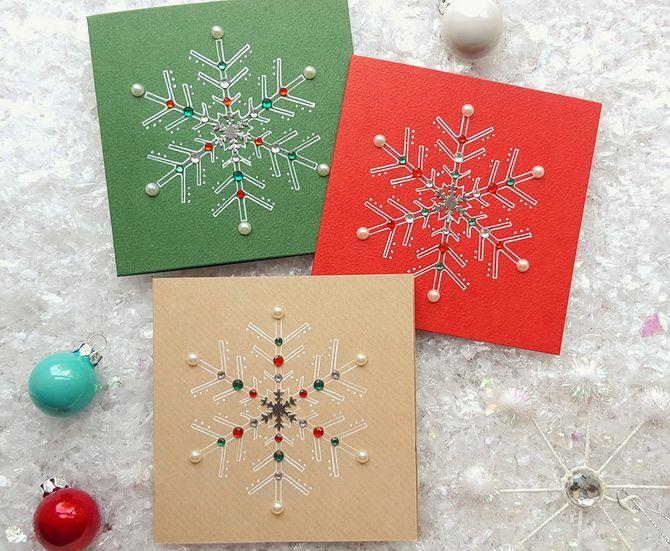 ایجاد کارت پستال های سال نو با دست خود: کارگاه های ساده 23